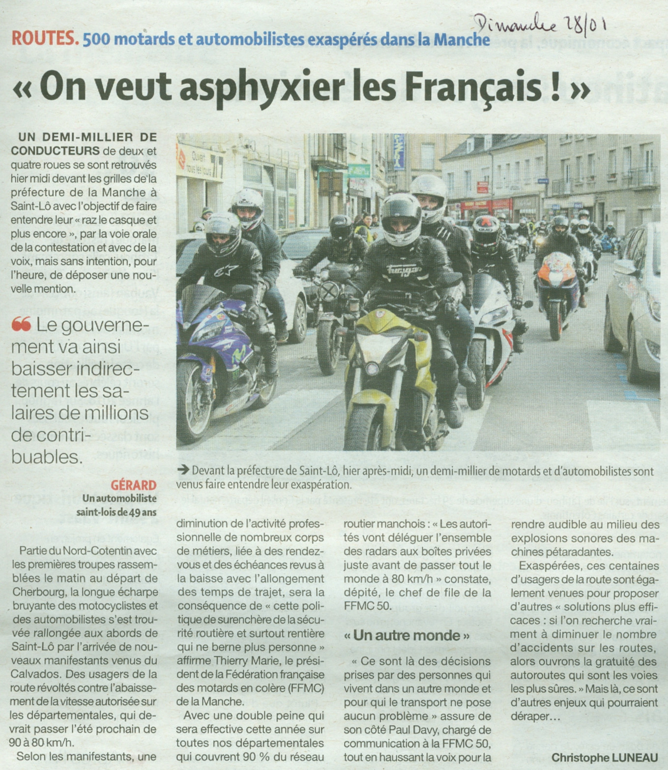 Manif 27 01 article Presse N1 v01